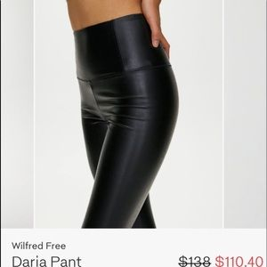 Aritzia Daria Faux leather leggings